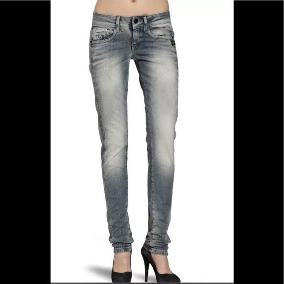 3aeb080778f G-Star Jeans   Gstar Midge Size 28 Faded Grey Wash Hot   Poshmark